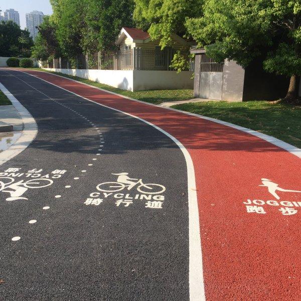 滨江步道划线